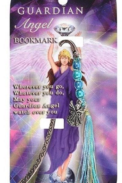 Guardian Angel - Metal Bookmark - Blue