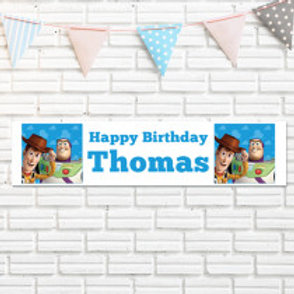 Woody & Buzz Lightyear Banner - Name