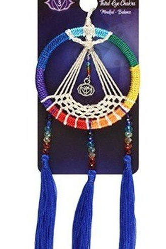 Chakra Dreamcatcher - Car Charm (Blue)