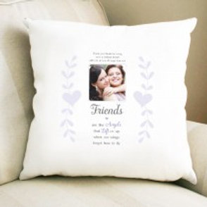 Friends are the Angels - Velvet Cushion - Photo & Text