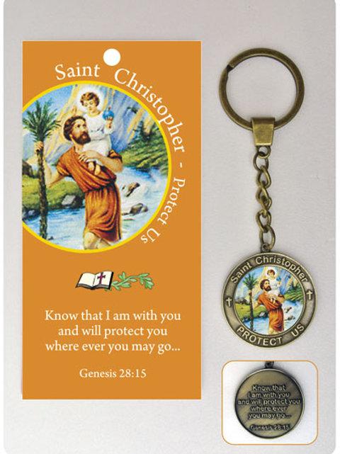 Saint Christopher - Keyring and Wallet