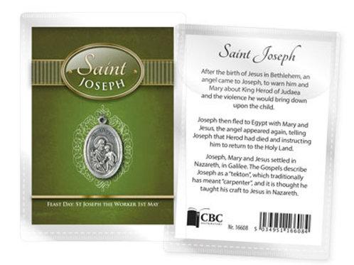 Saint Joseph - Medal (Oxidised) & Leaflet