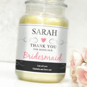 Bridesmaid - Bottle / Candle Label - Name