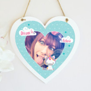 Unicorn - Hanging Heart  - Photo Only
