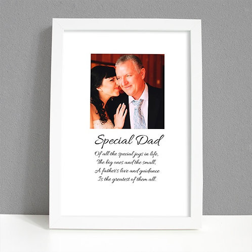 Special Dad - Framed Artwork - Photo