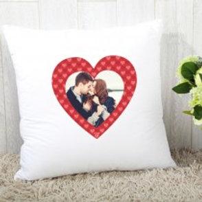 Red Heart - Velvet Cushion - Photo Only