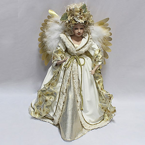 "Moving Christmas Angel - 24"" (Gold)"
