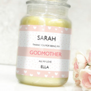 Godmother - Bottle / Candle Label - Name