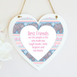 Tribal - Hanging Heart  - Text Only