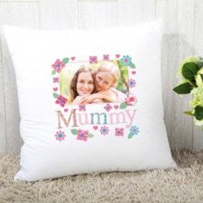 Mummy Floral - Velvet Cushion - Photo Only