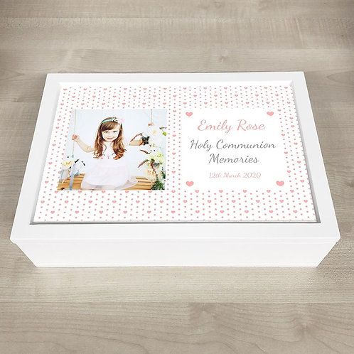Holy Communion Memory Box - Girl