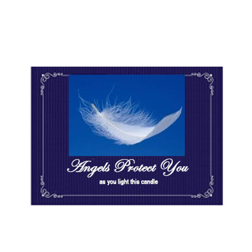 Angels Protect You Label- as you light this candle