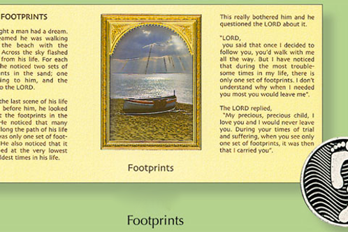 Footprints Coin in Inspirational Wallet