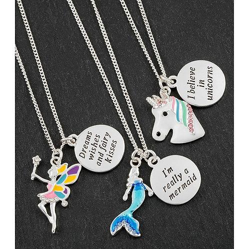 Girls Mystical Charm Necklace