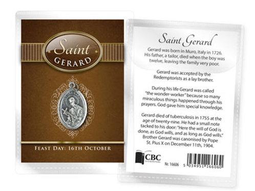 Saint Gerard - Medal (Oxidised) & Leaflet