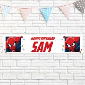 Marvel Spiderman Banner - Name