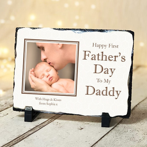 Father's Day-  Photo Slate - Photo & Text