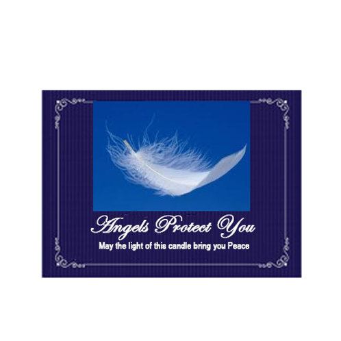 Angels Protect You label.... May angels surround you