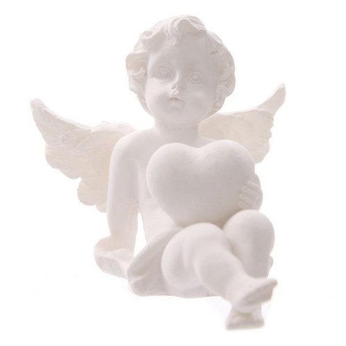 Heart Cherub Figurine - Crossed Legs