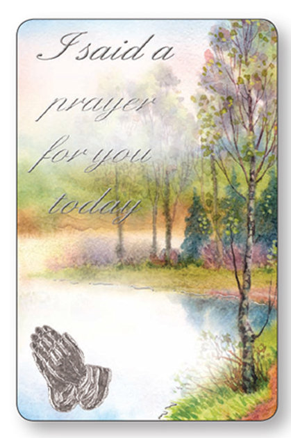 I Said A Prayer - Keepsake Card