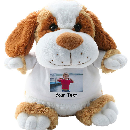 Personalised Dog Teddy Photo and Text
