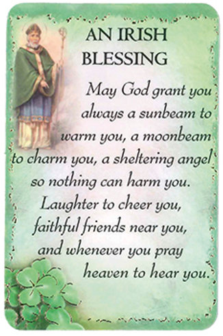 Irish Blessing - Keepsake Card