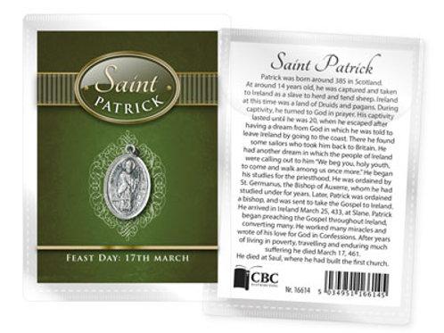 Saint Patrick - Medal (Oxidised) & Leaflet