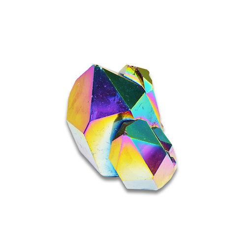 Celestial Plated Rock Quartz Crystal Cluster - Crystal