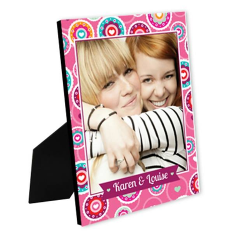 Bright Pink Floral Pattern - Photo Slate