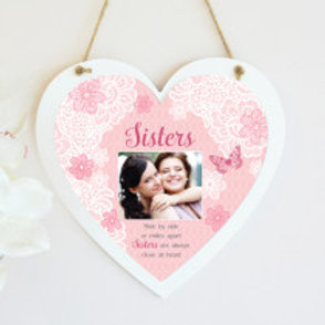 Sisters Hanging Heart  - Photo