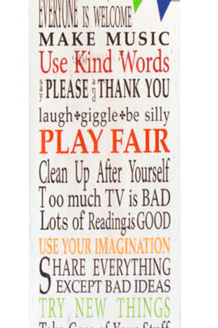 House Rules - Wall Sign