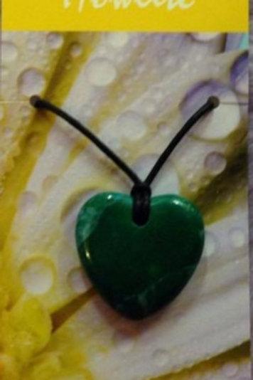 Chrysocolla Howlite Heart Pendant  - Understanding