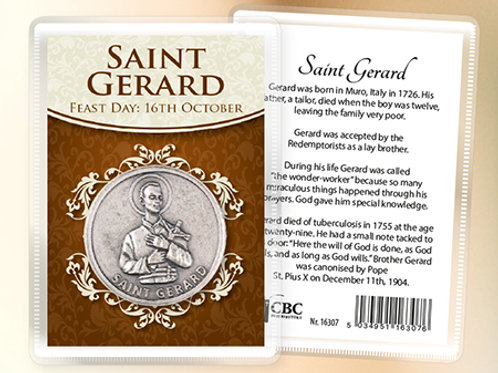 Saint Gerard - Prayer Coin & Leaflet