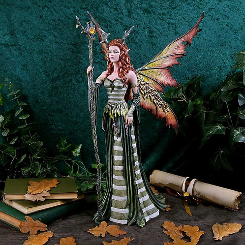 Large Fairy Figurine The Green Woman - 49cm