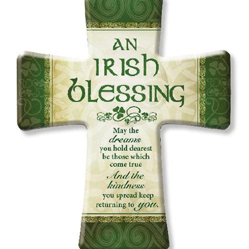 Irish Blessing Porcelain Cross