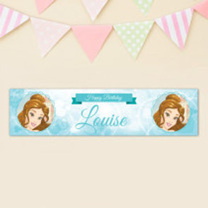 Belle - Beauty & The Beast Banner - Name