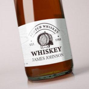 Whiskey - Bottle / Candle Label - Name