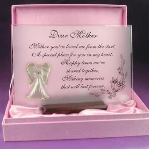 Dear Mother - Glass Plaque