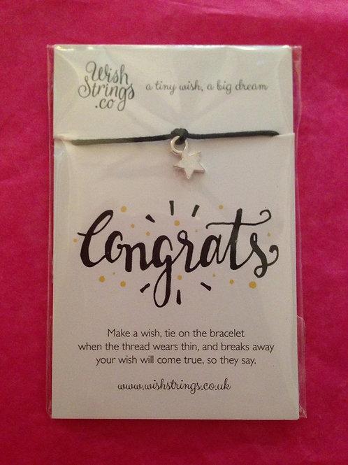 Congrats -  Wish Bracelet