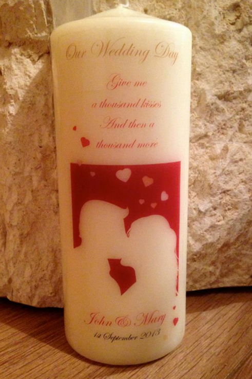 Wedding Candle Kissing - personalised
