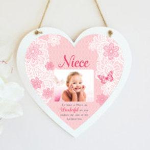 Niece Hanging Heart  - Photo