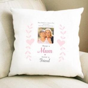 Always a Mum - Velvet Cushion - Photo & Text