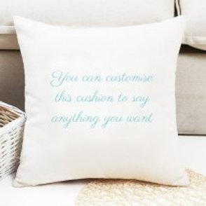 Velvet Cushion - Text only