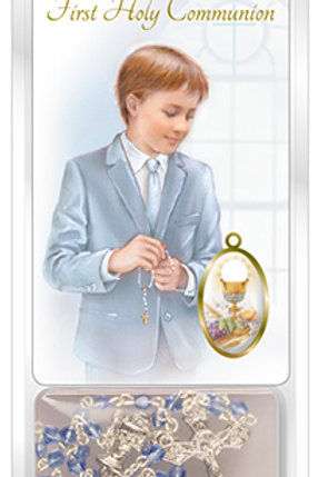 Holy Communion Pocket Card & Rosary - Boy