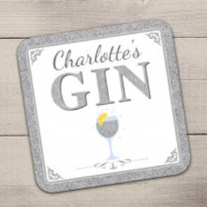 Gin Coaster - Text