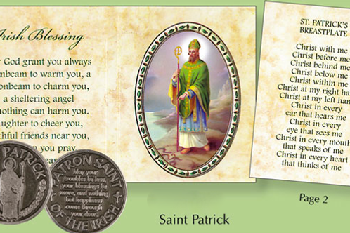 Token Irish Blessing Coin in Inspirational Wallet