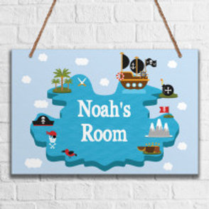 Baby Boys Room - Metal Hanging Sign - Name