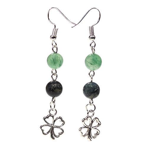 Shamrock Crystal Earrings