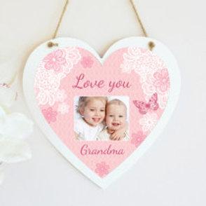 Love You Grandma Hanging Heart  - Photo