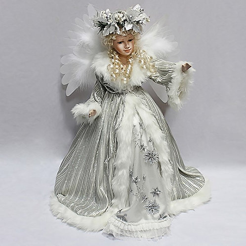 "Moving Christmas Angel - 24"" (Silver)"